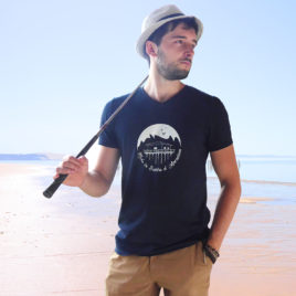 T-shirt en coton bio, Made in France