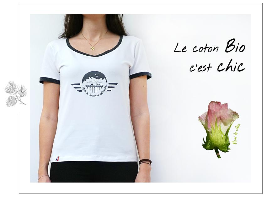 t-shirts femme coton biologique