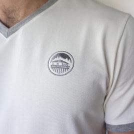 t-shirt brodé homme coton bio
