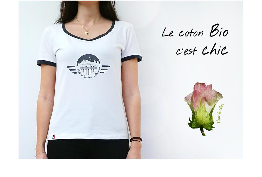 tshirt femme coton bio