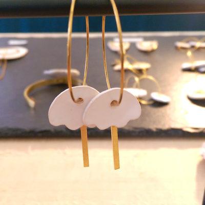 boucles d'oreilles ceramique