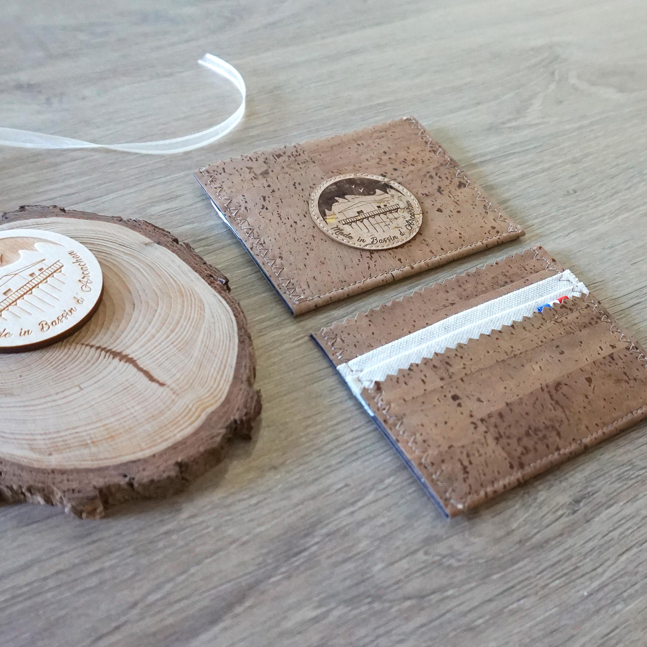 porte cartes cuir vegan naturel