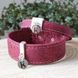 Bracelets Kuünu liège bordeaux