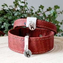 Bracelet Kuünu en liège brique
