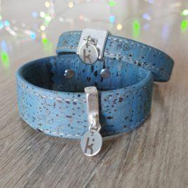 Bracelets Kuünu liège bleu