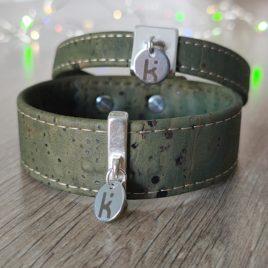 Bracelets Kuünu liège kaki