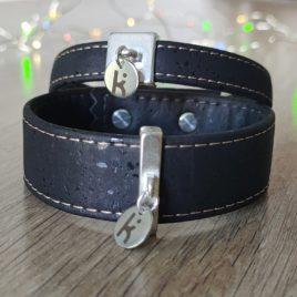 Bracelets Kuünu liège noir