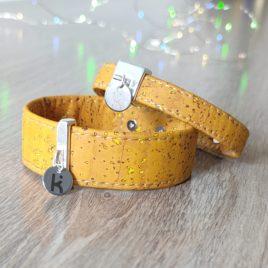 Bracelets Kuünu liège ocre