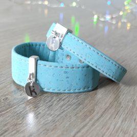 Bracelets Kuünu liège turquoise